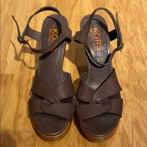 Kors Michael Kors Strappy Chunky Leather Sandals